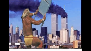 911 Predicted in 1989 - The BEAST Has Emerged - Hulk Hogan and Randy Savage with TWIN TOWERS