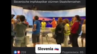 PEOPLE STORM INTO A TELEVISION STUDIO AND DEMAND THE HOSTS TO START TELLING THE TRUTH