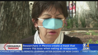 Researchers In Mexico Create Mask That Only Covers Nose When Eating At Restaurants