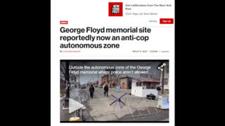 ENTERING A NO GO ZONE FOR POLICE AND AN AUTONOMOUS ZONE FOR THE PUBLIC IN MINNEAPOLIS MINNESOTA.