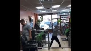 Nigger spots the nigger who snitched on him five years ago at the barbershop