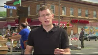 Reporter comes under fire at the George Floyd memorial in Minneapolis.