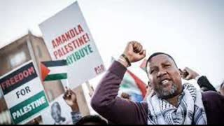 Nelson Mandela's Grandson calls for protests at the Israeli embassy in Pretoria, South Africa.