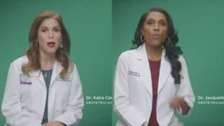 TWO LYING FAKE DOCTORS (ACTORS) READING FROM A SCRIPT (CDC PROPAGANDA TO PROMOTE POISONOUS JABS)