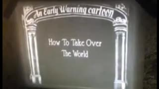 1262 VINTAGE EARLY WARNING CARTOON - THE PLANDEMIC - IT'S THE JEW STUPID!