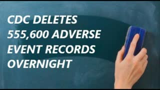 Want your adverse reaction to stop? CDC says nooooo problem. Over 500K records deleted?