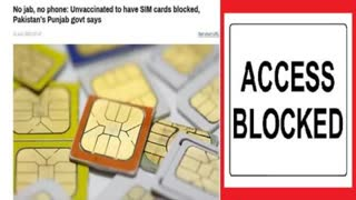 Pakistan Turning Sim Cards Off For Unvaccinated People