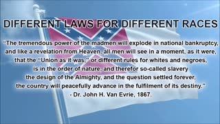 Different Laws for Different Races   John H  Van Evrie Pro Slavery Article, 1867