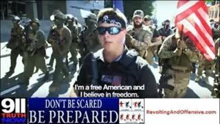 Armed militia march to protect firearms rights in Virginia!