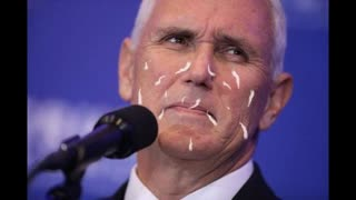 Mike Pence Guzzles Jew Cum By The Gallon Live On TV For Whole World To See!