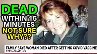 DIES 15 MINUTES AFTER GETTING COVID VACCINE, CAUSE OF DEATH UNKNOWN?? JEANIE MARIE EVANS