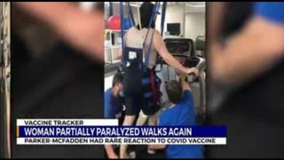 Nashville woman partially paralyzed after rare reaction to COVID vaccine walks again